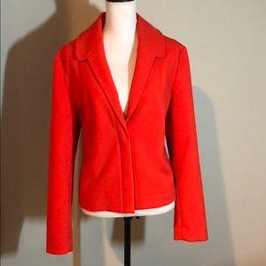 💞Retro feel pleated jacket blazer bright orange